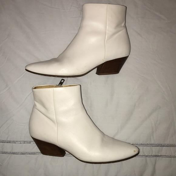 Vince Shoes | Vince White Boots | Poshmark